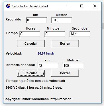 Calculador de velocidad